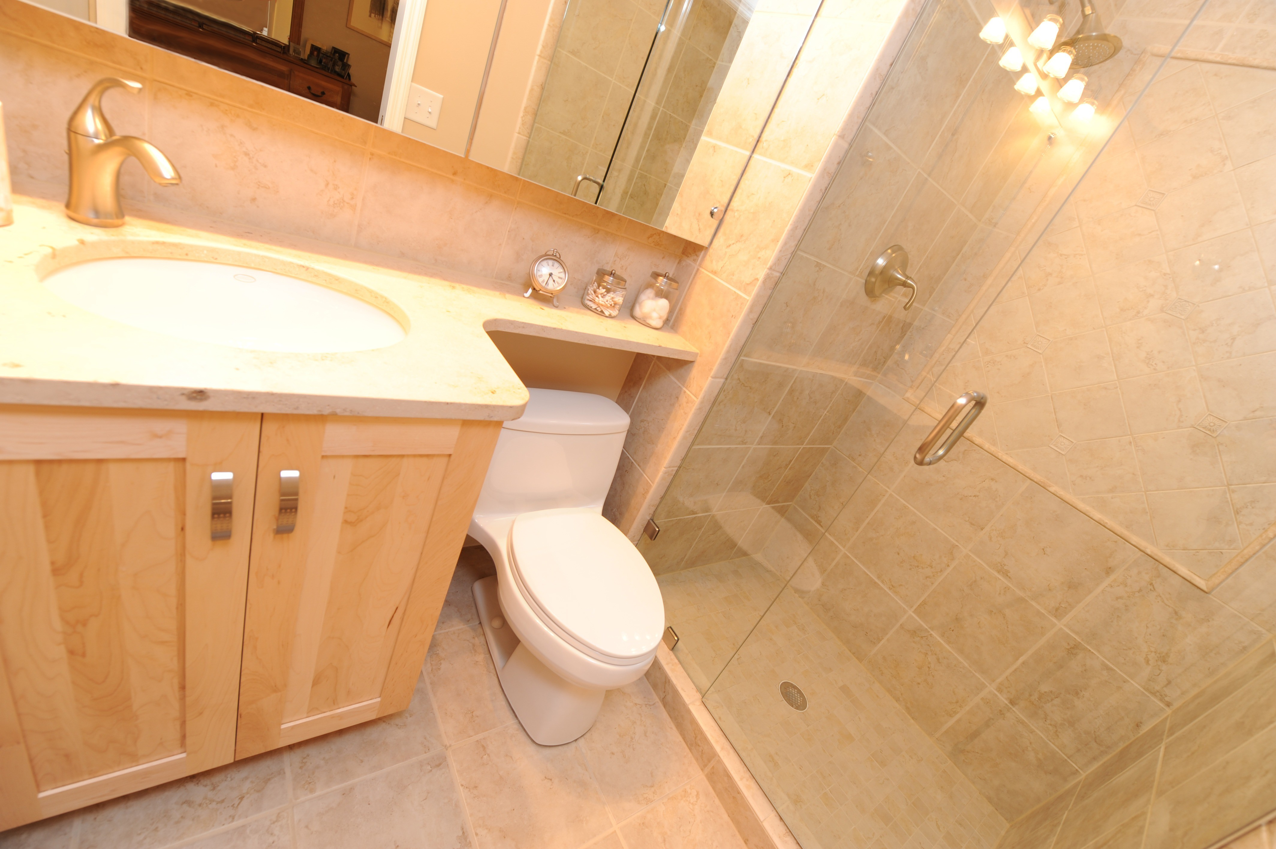 Small changes make a big difference momentum construction for Small bathroom goals